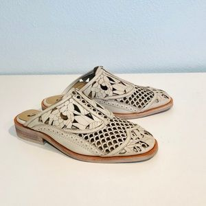 Free People Paramount Slip-On Loafer Mules Size 5